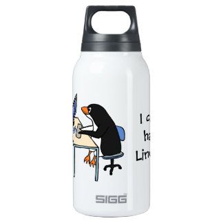 I can has Linux? 10 Oz Insulated SIGG Thermos Water Bottle