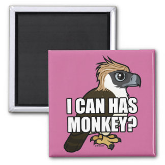 I Can Has Monkey? 2 Inch Square Magnet