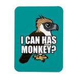I Can Has Monkey? Rectangular Photo Magnet