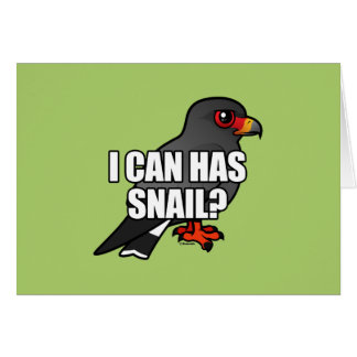 I Can Has Snail? Stationery Note Card