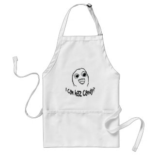 I can haz candy? adult apron