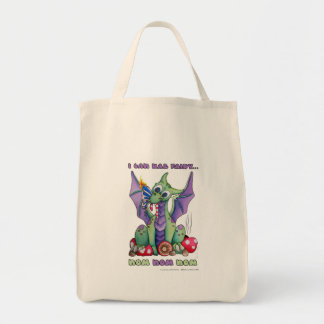 I Can Haz Fairy NOM NOM NOM cute baby dragon Tote Bag