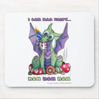 I Can Haz Fairy NOM NOM NOM cute baby dragon Mouse Pad