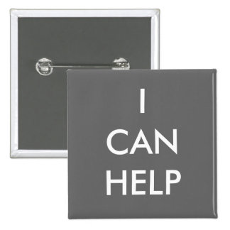 I Can Help  Volunteer Button Charity Events