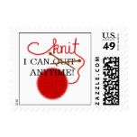 I can knit anytime Stamp