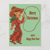 I Can Lasso Christmas Greetings Holiday Postcard