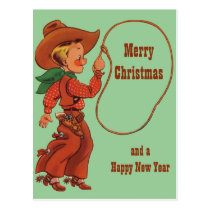 I Can Lasso Christmas Greetings Postcard