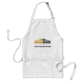 I Can Last For Hours (Chess Humor Chess Set) Adult Apron