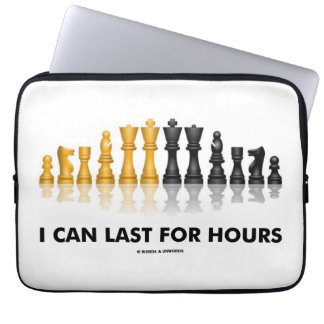I Can Last For Hours (Chess Humor Chess Set) Laptop Sleeve
