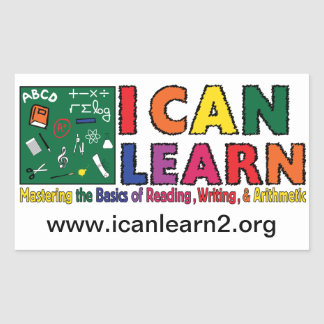 I Can Learn - Rectangle Sticker