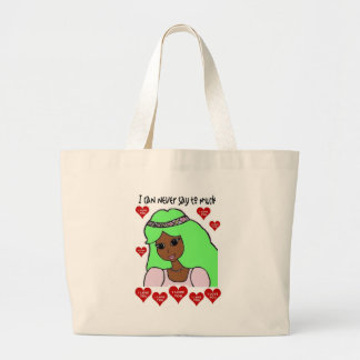 I can never say how much I love you Large Tote Bag