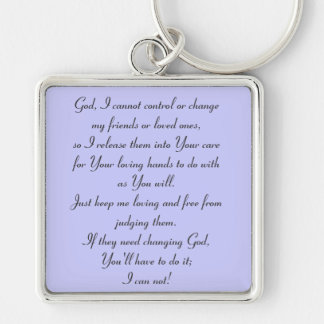 I Can Not Prayer Keyring