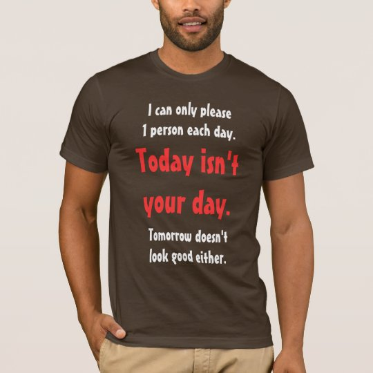 I Can Only Please 1 Person Each Day T Shirt
