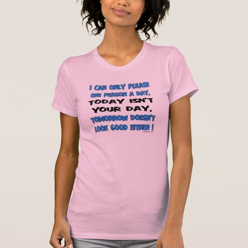 I Can Only Please One Person A Day Humor T Shirt Zazzle
