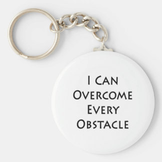 i can overcome every obstacle keychain
