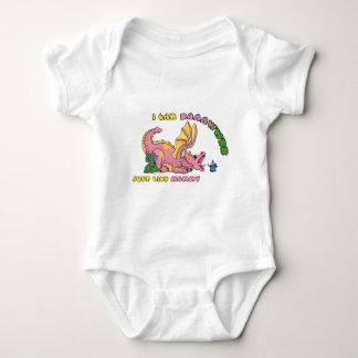I can RAWR, Just Like Mommy cute baby dragon girl Baby Bodysuit