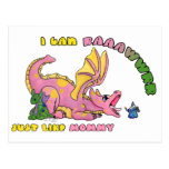 I can RAWR, Just Like Mommy cute baby dragon girl Post Cards