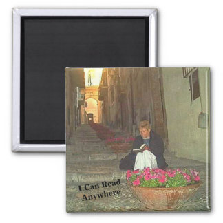 I Can Read Anywhere Book Reader in Sicily Magnet