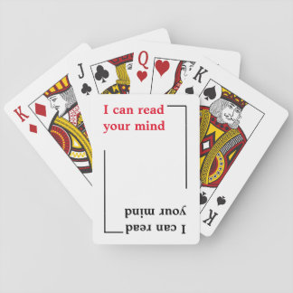 I can read your mind , funny poker deck