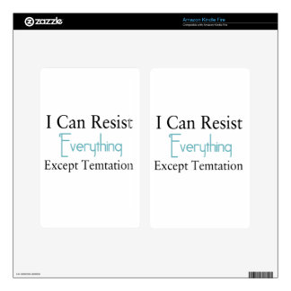 I Can Resist Everything Except Temptation Decal For Kindle Fire