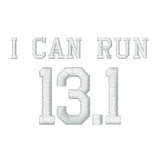 I can run 13.1 -- Can you? Embroidered Track Jacket