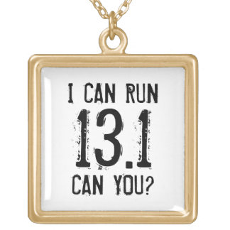 I can run 13.1 -- Can you? Gold Plated Necklace