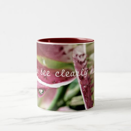 """I can see clearly now..."" Two-Tone Coffee Mug"