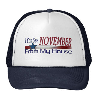 I Can See November From My House Funny Election Trucker Hat