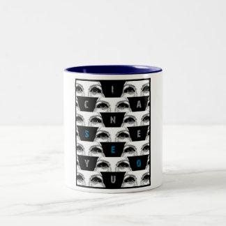 i can SeE yOu Two-Tone Coffee Mug