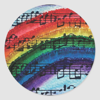 I Can Sing A Rainbow Classic Round Sticker