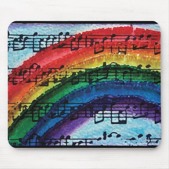 I Can Sing A Rainbow Mouse Pad