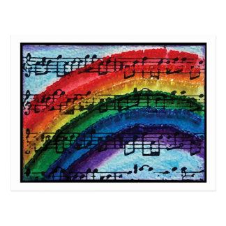 I Can Sing A Rainbow Postcard