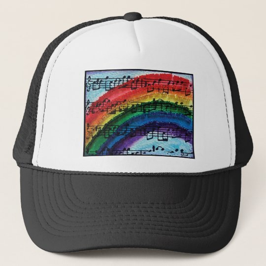 I Can Sing A Rainbow Trucker Hat