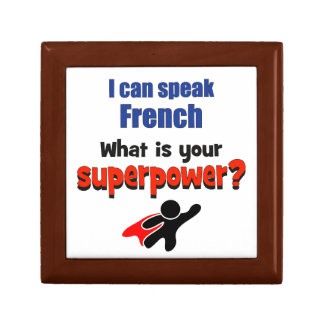 I can speak French. What is your superpower? Keepsake Box
