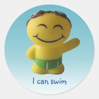 I can swim classic round sticker