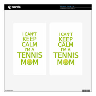 I can t keep calm I am a tennis mom Decal For Kindle Fire