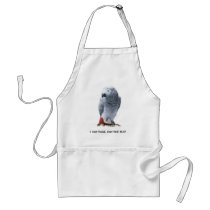I can talk, can you fly? African Grey Adult Apron