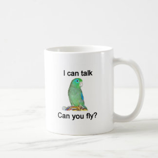 I can talk, can you fly? classic white coffee mug