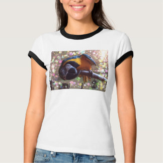 I can talk....can you fly?  Parrot print t-shirt
