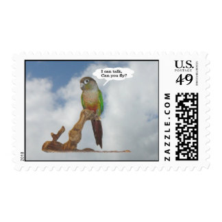I can talk, can you fly? postage stamps