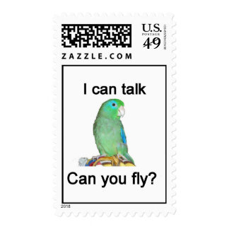 I can talk, can you fly? stamp