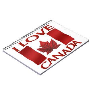 I Canada Canada Journal Canada Souvenir Notebooks