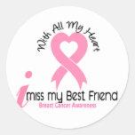 I cáncer de pecho del mejor amigo de Srta. My Etiqueta Redonda