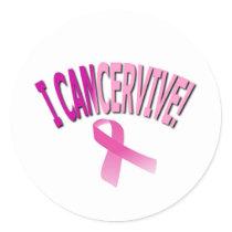 I CANCERVIVE CLASSIC ROUND STICKER