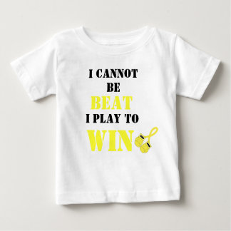 I Cannot be Beat, Play to Win - Childhood Cancer Baby T-Shirt