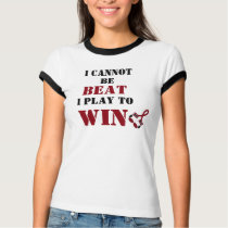 I Cannot Be Beat, Play to Win - Head Neck Cancer T-Shirt
