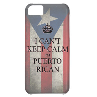 I cannot keep calm i'm puerto rican flag iPhone 5 iPhone 5C Cover