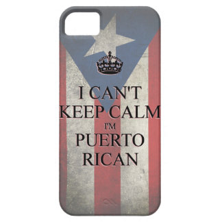 I cannot keep calm i'm puerto rican flag iPhone 5 iPhone SE/5/5s Case