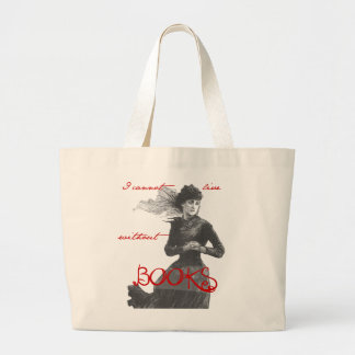 I Cannot Live Without Books Canvas Bags