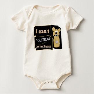 I can't bear political corectness baby bodysuit